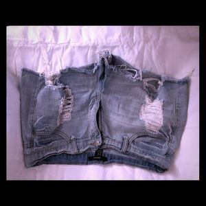 Forever 21 jean distressed shorts